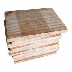 Roseta de madera 7x11 cm