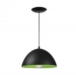 Colgante ferrolux madrid 1 luz pvc 26 cm negro/verde