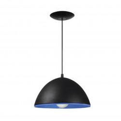 Colgante ferrolux madrid 1 luz pvc 26cms negro/azul