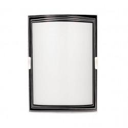 Difusor ferrolux paris 25x18cms 1 luz borde negro