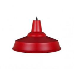 Colgante ilumros aluminio pintado rojo 40 cm