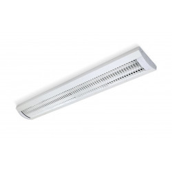 Artefacto lucciola bilamp fluorescente 2x36w con louver...