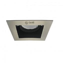 Artefacto candil roque embutir 1 luz gu10 90x90x45mm...