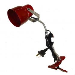 Velador pinza san justo carilo con barral 35cms e27 rojo...