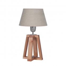 Lampara carilux 1183v cruz de mesa en madera paraiso con...