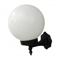 Aplique centilux globo 12x25 polietileno opal e27 negro