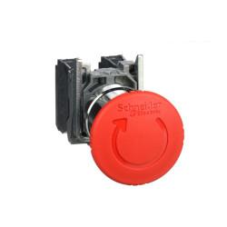 Parada emergencia schneider xb4bs8445 1/4 giro trigger...
