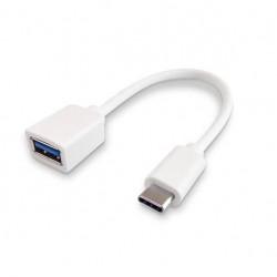 Cable usb tipo c a usb hembra nisuta ns-adusc3 15cm