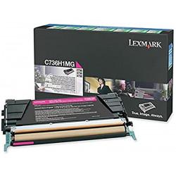 Toner lexmark c736h1mg para c736dn/x738de original magenta